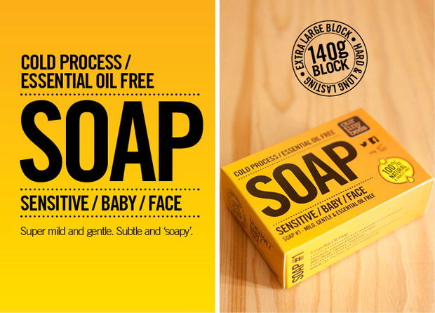 our tiny bees soap range