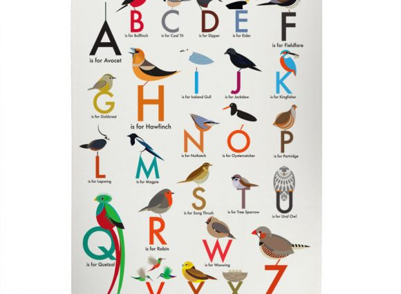 Alphabet T Towel from I Like Birds