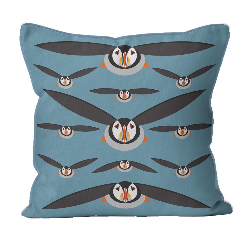 I Like Birds Puffin Cushion
