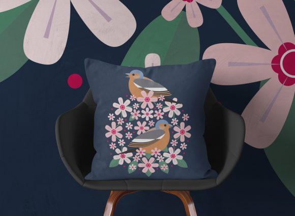I Like Birds Chaffinch Cushion