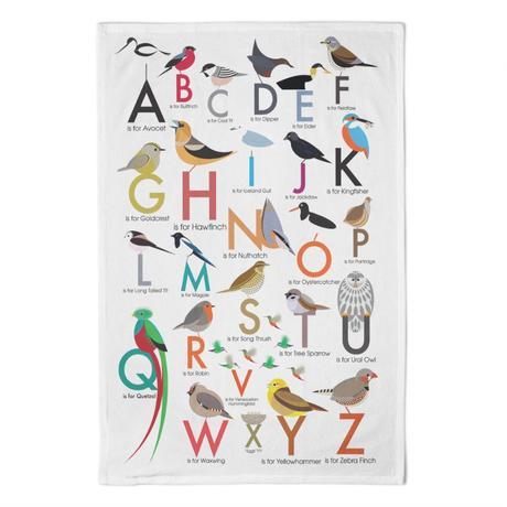 I Like Birds Alphabet Tea Towel