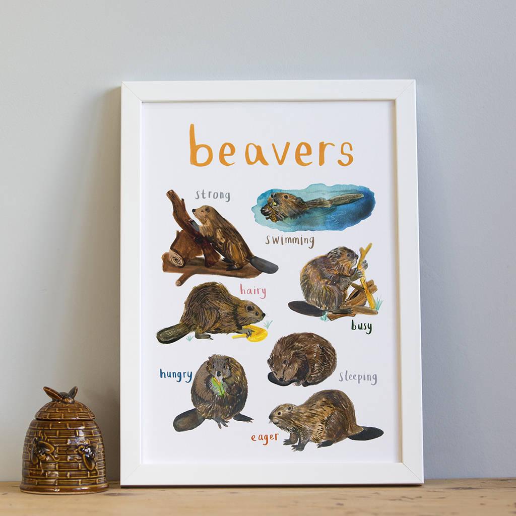 Sarah Edmonds Beavers A4 Print