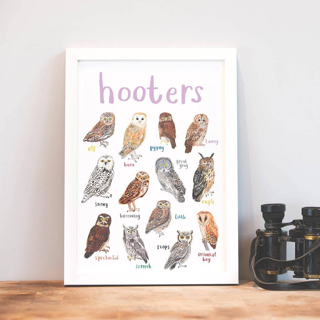 Sarah Edmonds Hooters A4 Print