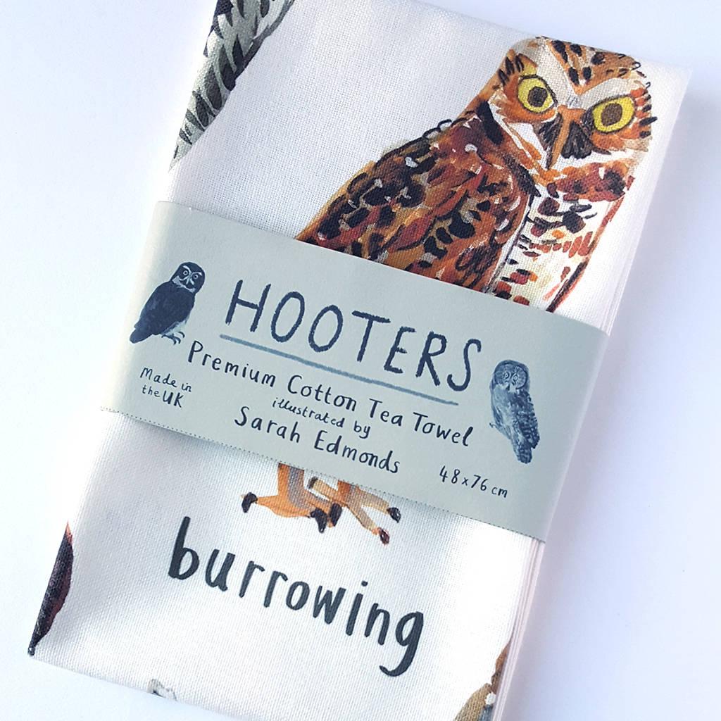 Sarah Edmonds Hooters Tea Towel