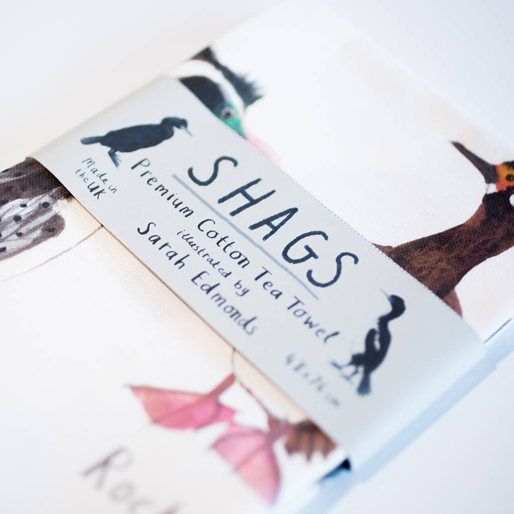 Sarah Edmonds Shags Tea Towel