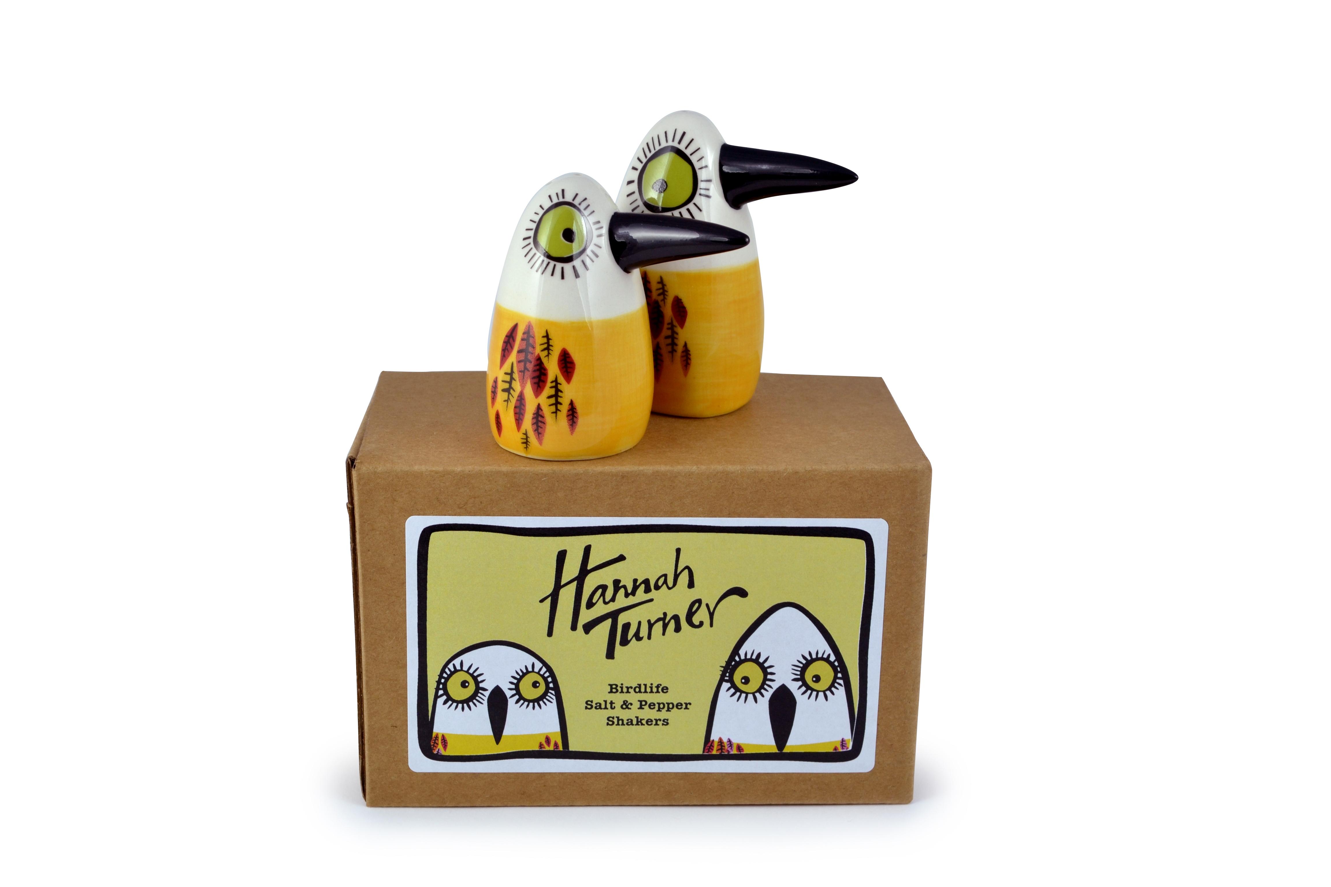 Birdlife Salt and Pepper Yellow Hannah Turner