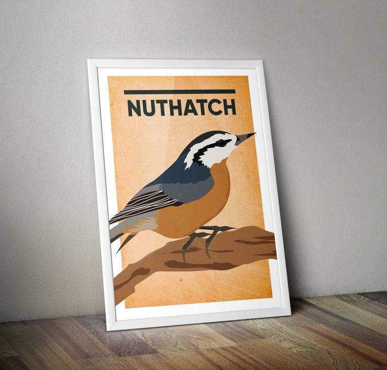 Nuthatch A4 Print Micklegate Design