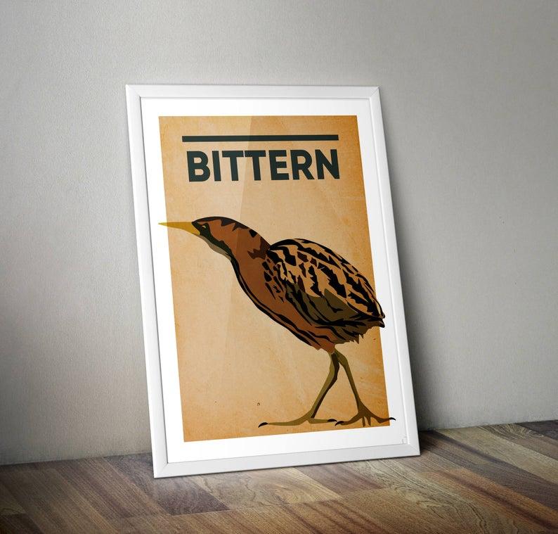 Bittern A4 Print Micklegate Design