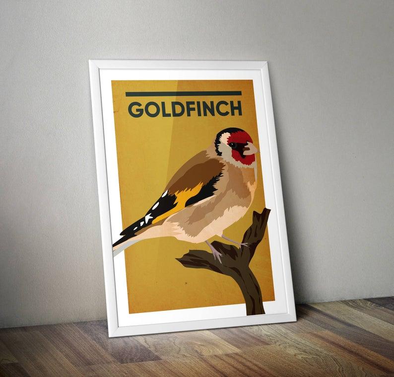 Goldfinch A4 Print Micklegate Design