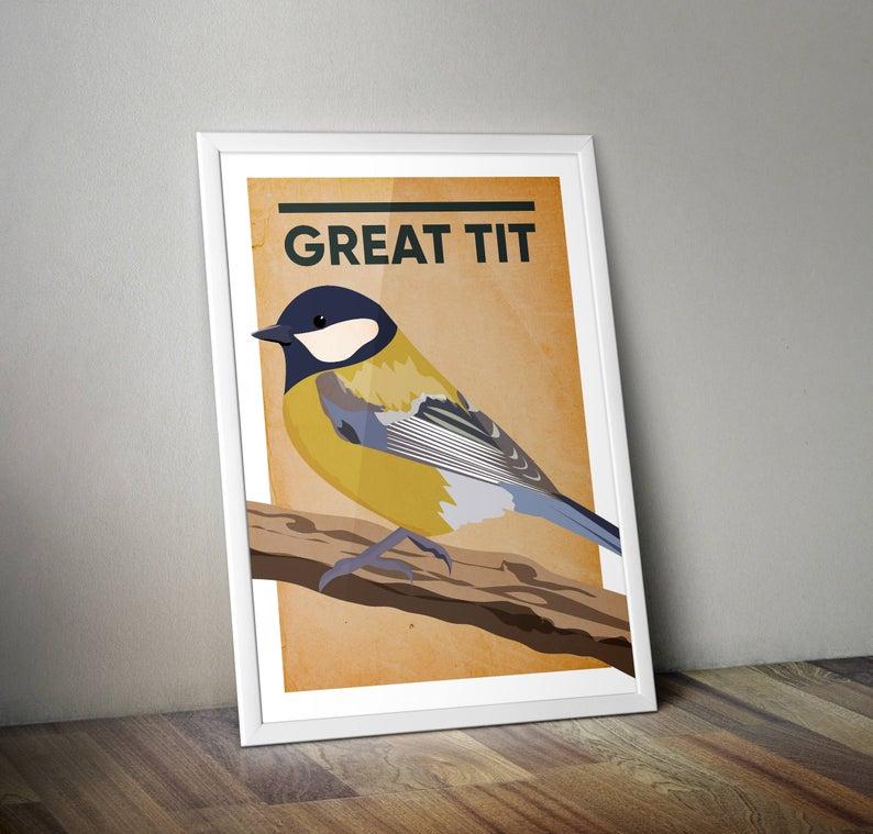 Great Tit A4 Print Micklegate Design