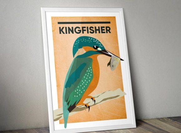 Kingfisher A4 Print Micklegate Design