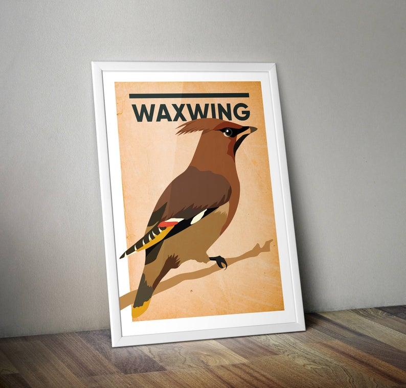 Waxwing A4 Print Micklegate Design